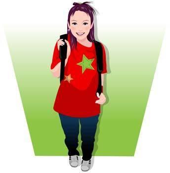 free vector Students vector 2