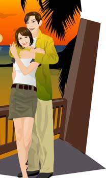 free vector Couple in love 26