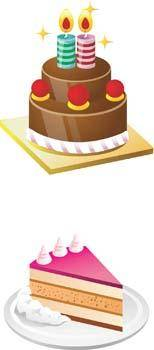 free vector Tart birthday cake 6