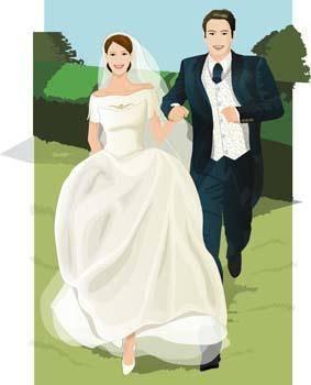 free vector Bride 9