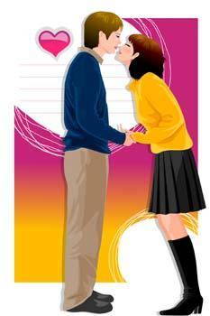 free vector Couple in love 18