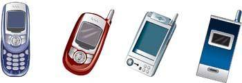 Nokia samsung motorolla sony erricson phone vector