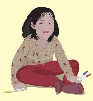 free vector Little Girl 6