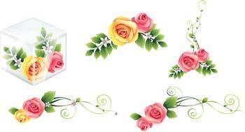 free vector Rose Flower Vetor 42