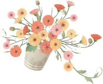 free vector Vaza Flower 21