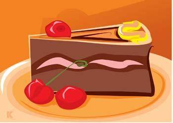 free vector Cake and cherry 1