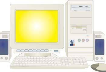 Dekstop computer vector 32