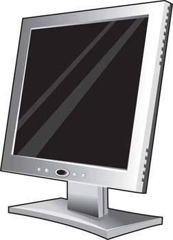 LCD Monitor Vector 12