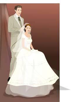 free vector Bride 8