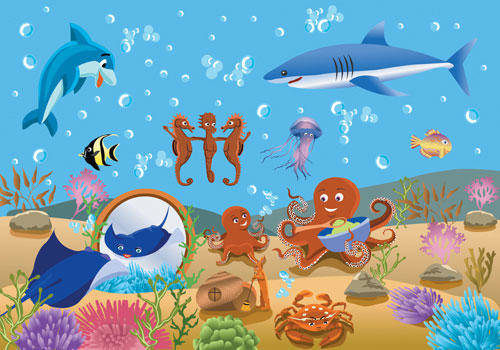 free vector Vector Underwater World Fish Underwater