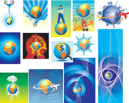 free vector Globe Collection Abstract Globe World