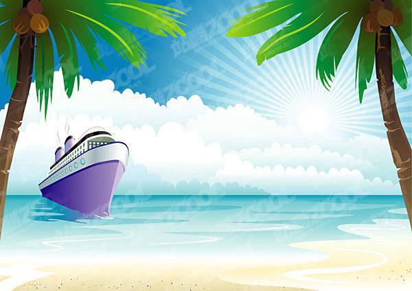 free vector Cruise On The Ocean Vector Cruise