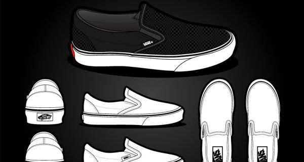 Vans Classic Slip On Shoes Vector Vans Classic Slip On