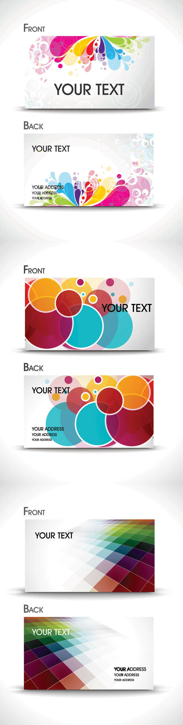 Brilliant Business Card Template - Vector Material Beautiful Cards Bright