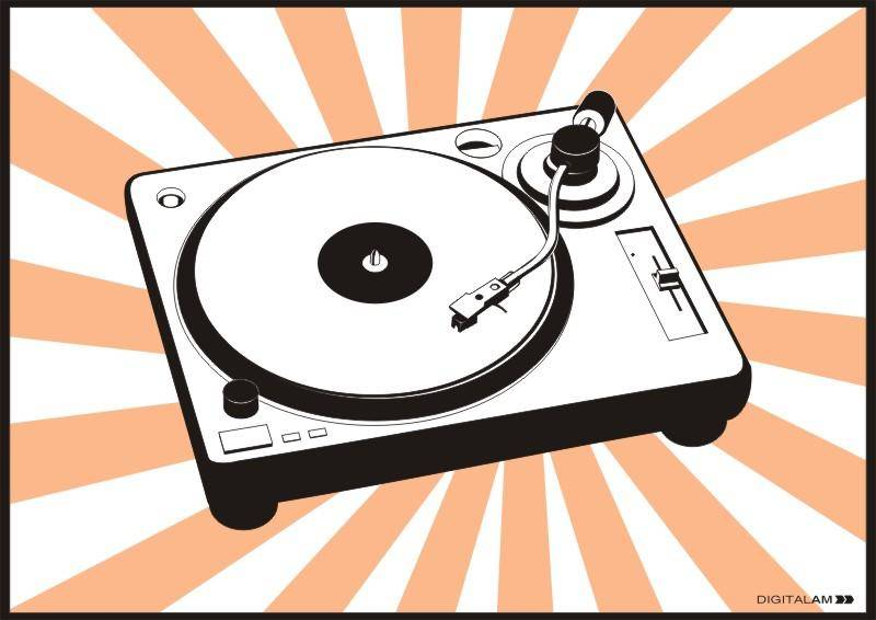 Turntable Cdr Music Vector Music Vectors