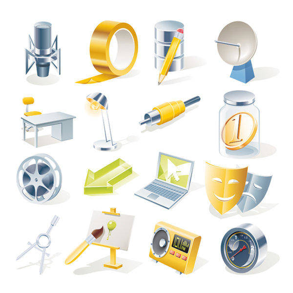 Office Icon, Vector Material Office Icon