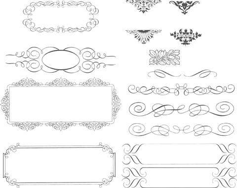 free vector Succinct Lace Trimming Vector Source Material Succinct