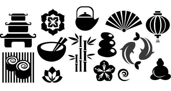 free vector Japan Vector Set 2 Japan Vector Set Symbols Vector Tribal