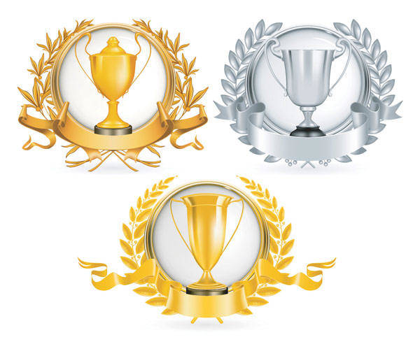 Yellow Gold Trophy Vector Material Yellow Gold
