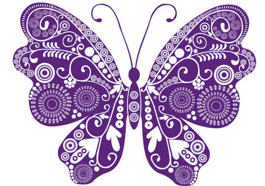 Beautiful Butterflies Vector Material Beautiful Silhouette Paper Cutting