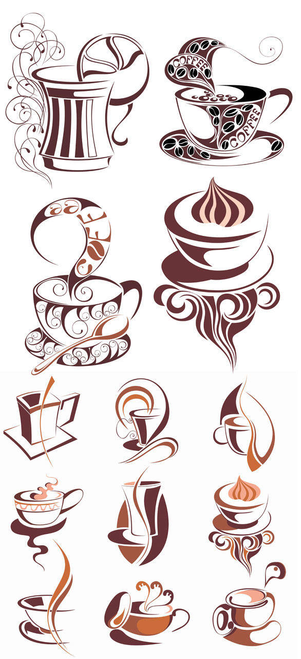 Coffee Icon Vector Material Coffee