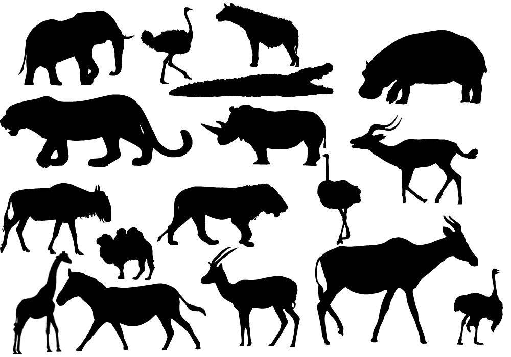 free vector African Animals African Animals AÄ° Animal Vector