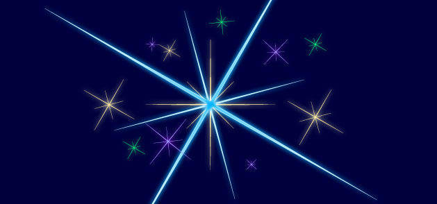 free vector Starshine Sparkles Stars Winter