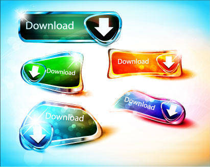 free vector Download Buttons Download
