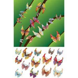 free vector Vector Butterfly 000041 Abstract Antenna Art