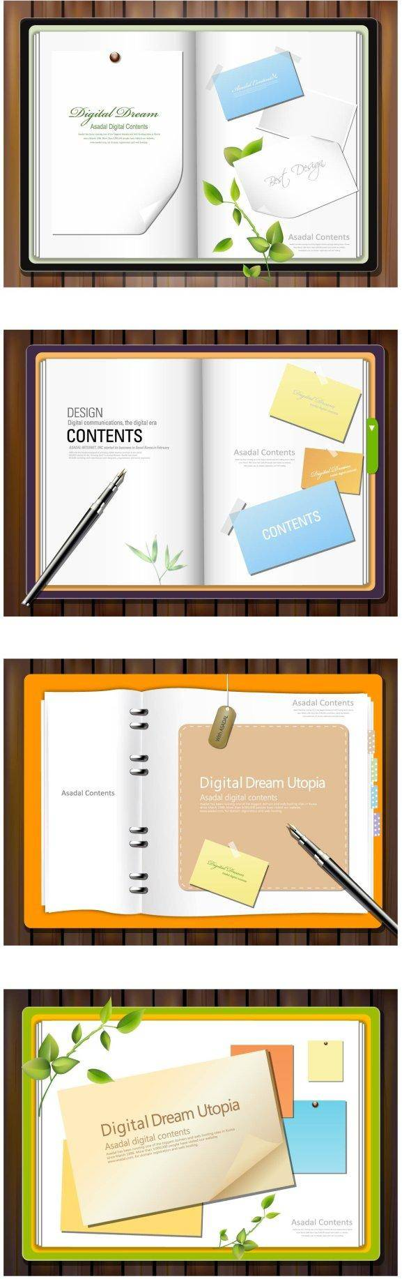 free vector Paper Notes Vector Paper
