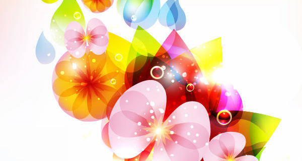 Colorful Flower Vector Colorful Flower Vectors Floral Vector Flower Vector