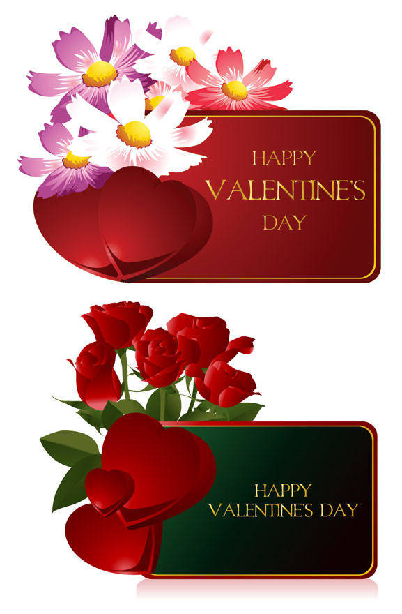 free vector Valentine¡¯;s Day Cards Vector Material Valentine¡¯;s Day