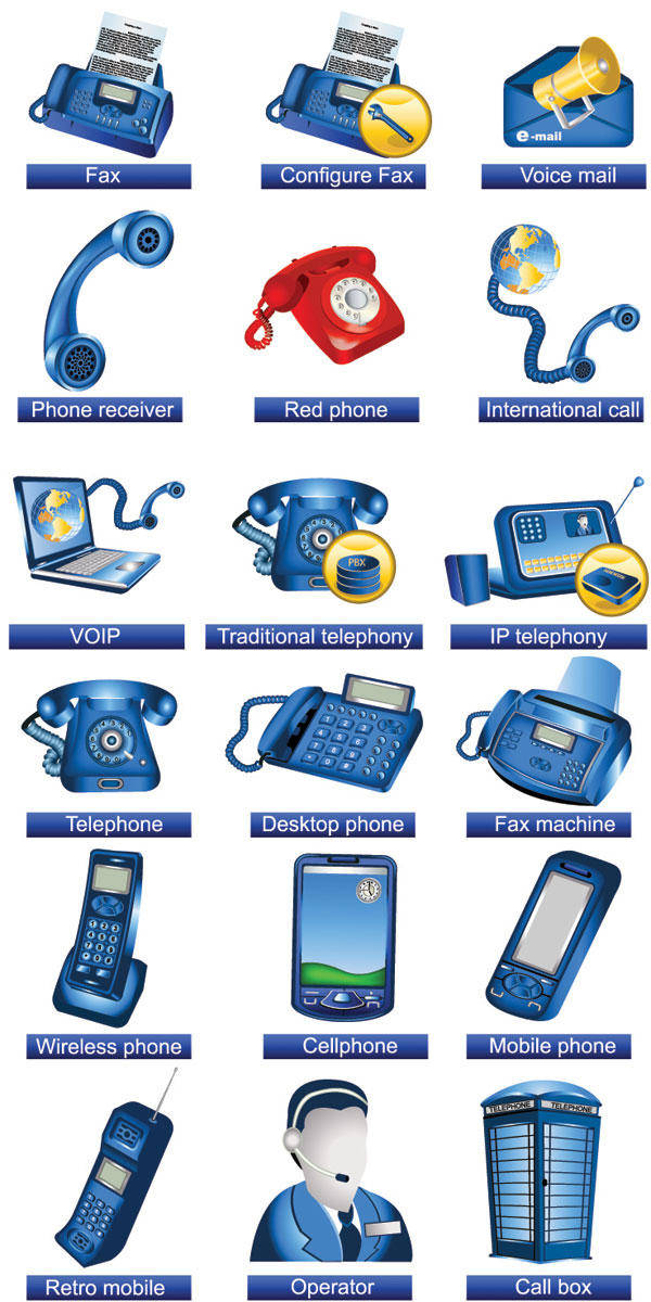Communication Facilities Icons - Vector Communication Icons Vector