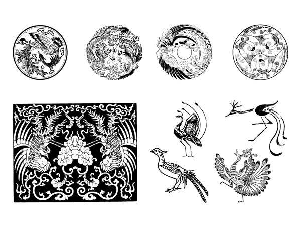free vector Traditional Chinese Phoenix Vector Traditional Chinese Phoenix