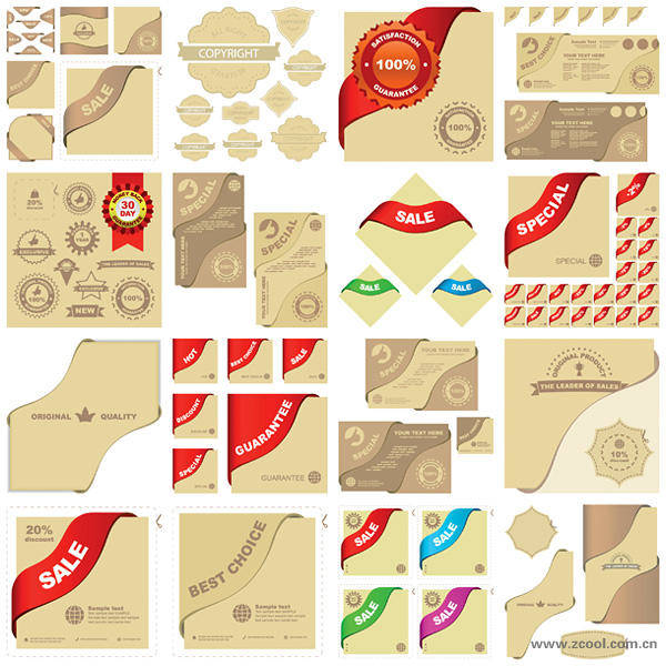 Vector Graphic Elements Related Material Sales Vector