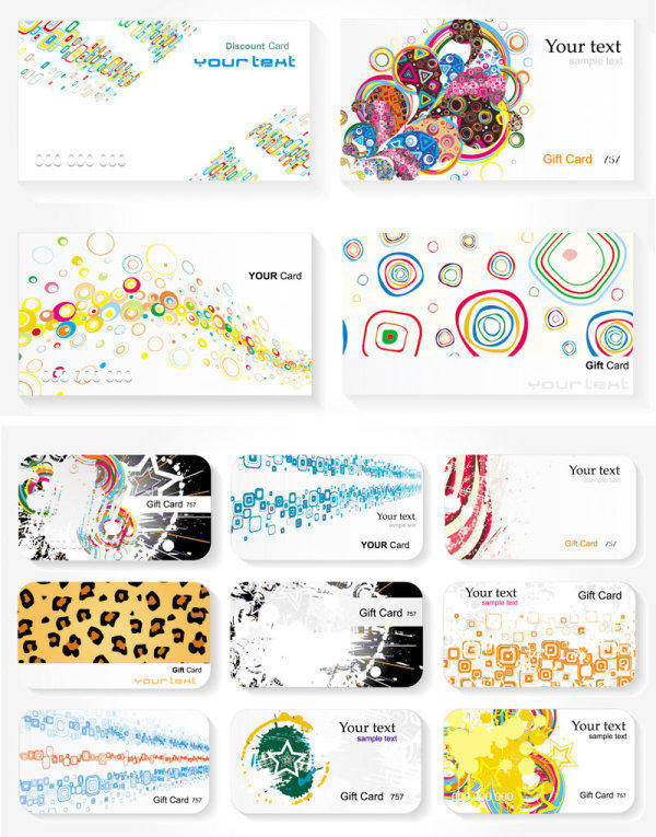 Card Templates - Vector Card Templates Vector