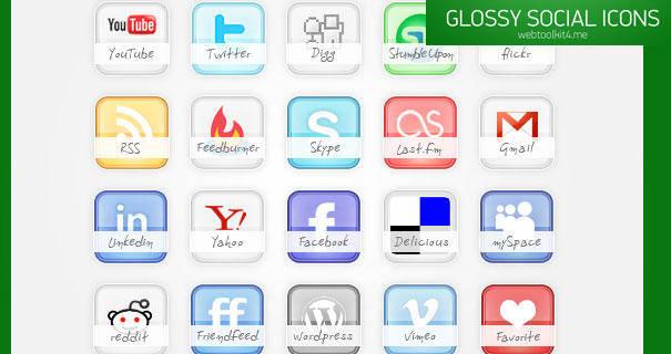 Free Glossy Social Ä°cons Free Social Ä°cons Glossy Social Ä°cons Psd