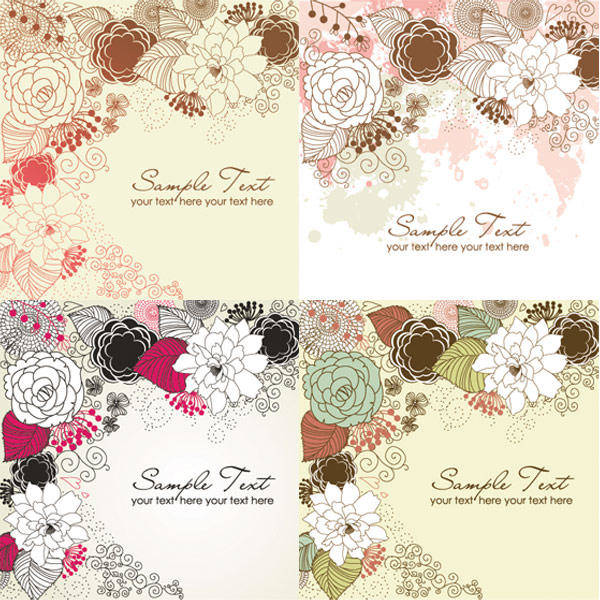 Elegant Patterns) (vector Material Elegant