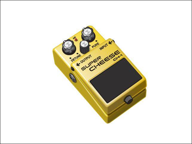 free vector The Cheese-y Guitar Pedal The Cheese-y Guitar