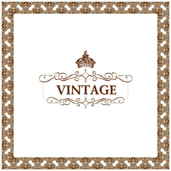 Gorgeous Lace Material Practical Vector -1 Crown Ornate European-style