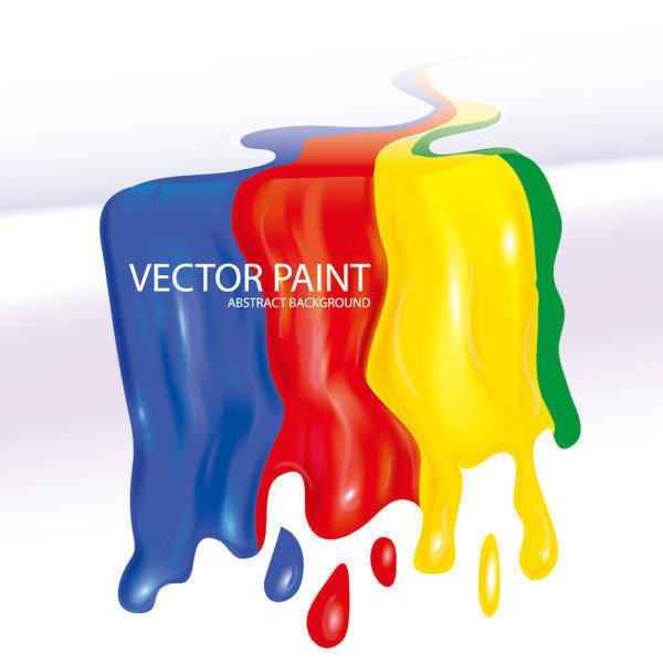 free vector Flowing Pigment 01 - Vector Flow Paint Beautiful