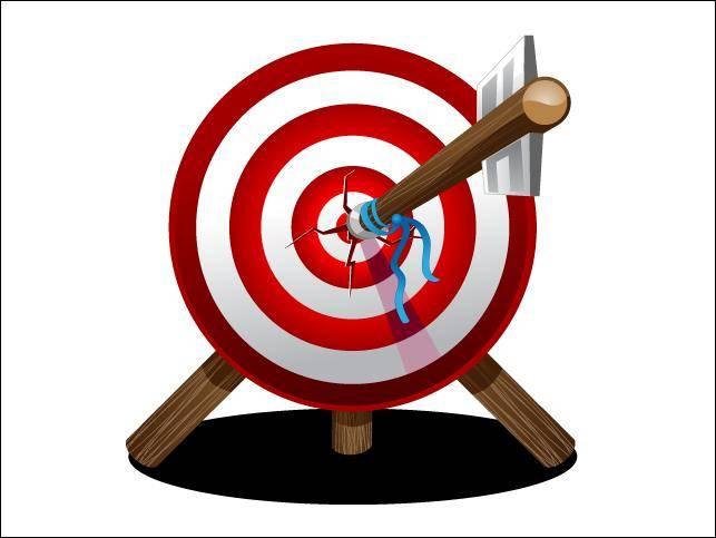 free vector Arrow On Target Arrow Target