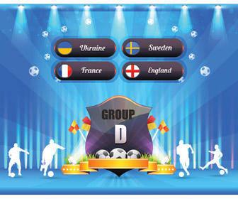 free vector Euro 2012 Group D Shield Poster Vector Art Award Badge