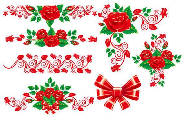 free vector Beautiful Rose Lace Vector Material Beautiful Vector