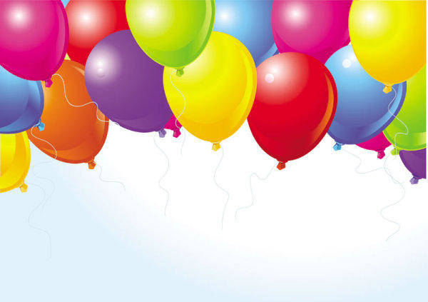 Beautifully Colored Balloons 04 - Vector Beautiful Color Festivals