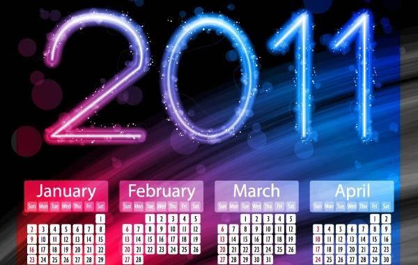 free vector 2011 Calendars Calendars New Year