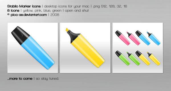 free vector Stabilo Marker Icons Pen Icon Pen Vector Pencil Vector