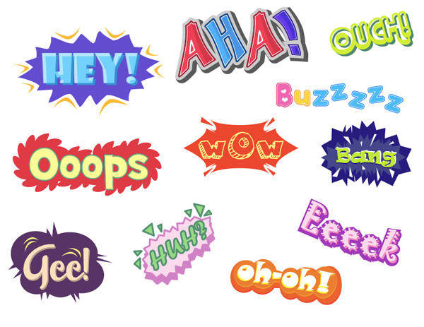 {variety Of Graffiti Text} Vector Text} Vector