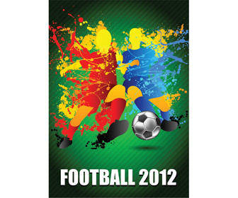 free vector Football Players Splash With A Soccer Ball Vector Art Background Champion