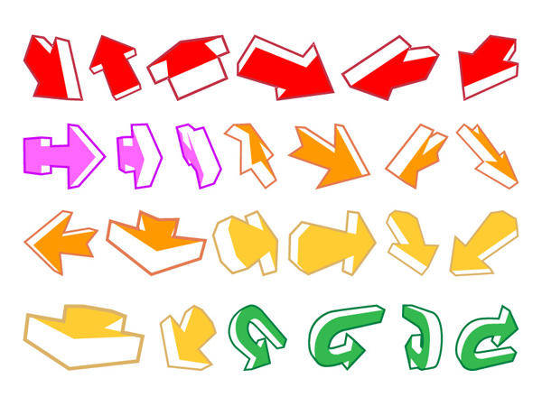 A Variety Of Arrows, And One Other Vector Material Arrows